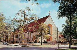 Winona Minnesota~Cathedral of the Sacred Heart~Catholic Church~1950s Car