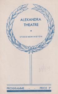 Salome Anthony Quayle Drama WW2 Stoke Newington London Theatre  Programme
