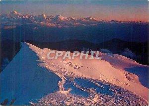 Modern Postcard Monte Rosa The sunset Soliel of Punta Gnijelli