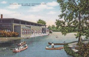 Wisconsin Milwaukee Pavilion On The Lake In Washington Park
