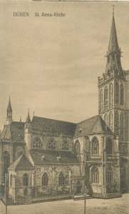 Germany Postcard Duren St Anna Kirche