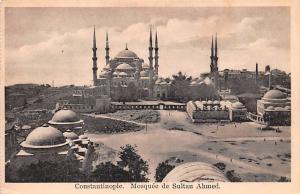 Turkey Old Vintage Antique Post Card Mosquee de Sultan Ahmed Constantinople U...