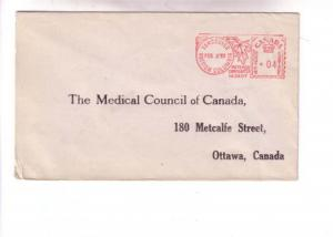 Stamps, Cover Medical Council Canada, Vancouver British Columbia Used Meter 1953