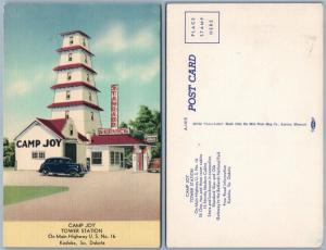GAS STATION KADOKA S.D.CAMP JOY TOWER STATION VINTAGE POSTCARD