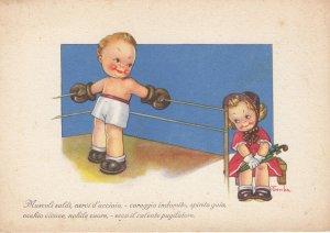 Artist Tomba ; Boxing Couple , 1920-30s