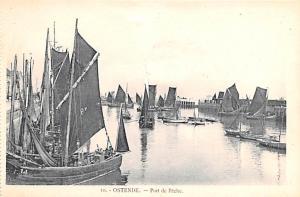 Ostende Belgium, Belgique, Belgie, Belgien Port de Peche Ostende Port de Peche