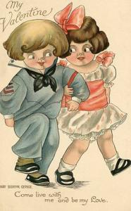 Greeting - Valentine -  Artist Signed: Mary Eleanor George
