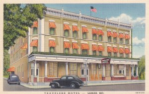 LAMAR, Missouri, 1930-1940's; Travelers Hotel
