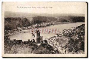 Postcard Old St Goarshausen Burg Katz Und St Goar