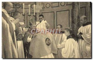 Old Postcard priesthood Imposition of the Chasuble Repliee