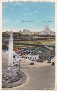 Rhode Island Providence War Memorial Monument Masonic Temple State Capitol
