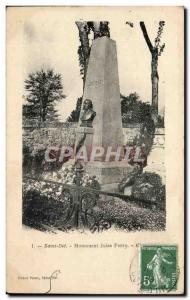 Old Postcard Saint Die Monument Jules Ferry