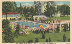 WEST END , New Jersey , 1930s-40s ; Hotel Hollywood Crystal Swimming Pool