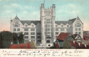 Morris High School, Bronx, New York, Early Postcard, Used in 1907