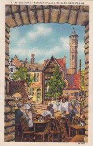 Illinois Chicago 1933 World Fair Section Of Belgian Village