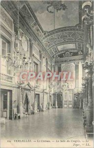 Postcard Old Versailles Chateau Congress Chamber