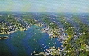 Maine Boothbay Harbor Aerial View Of The Boating Capital Of New England From ...
