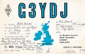 New Malden Surrey QSL Amateur Radio 1960s Postcard