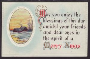 Merry Christmas,Scene Postcard