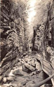 13066  NH   Franconia Notch  The Flume Gorge real photo