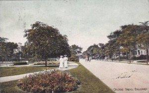 Illinois Chicago Drexel Boulevard 1908