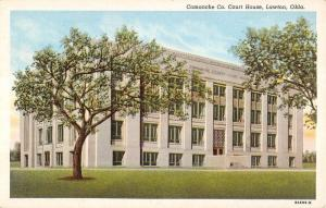 Lawton Oklahoma Comanche Court House Exterior Antique Postcard K20613