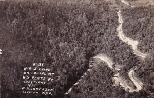 No 39 Big S Curve On Laurel Mountain U S Route 50 Copyright 1931 Grafton West...