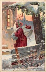 Santa Claus Postcard Old Vintage Christmas Post Card 1915