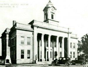 Vtg RPPC 1940s Mocksville NC North Carolina Davie County Court House Building
