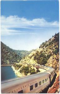 California Zephyr, Feather River Canyon California,Western Pacific