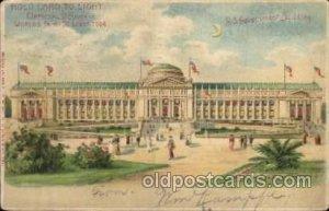 US Gov. Bld. Hold To Light, Official Souvenier, St. Louis World's Fair Exposi...