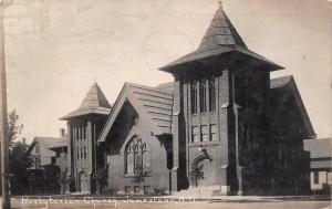 Jamestown North Dakota~Presbyterian Church~Nellie Father Died Tuesday~1912 RPPC