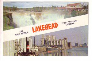 Kakabeka Falls, Grain Elevators, Fort William, Port Arthur, now Thunder Bay, ...