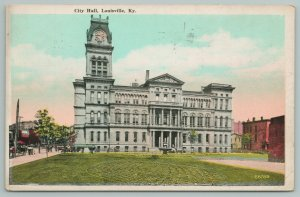 Louisville Kentucky~City Hall From The Lawn~Vintage Postcard