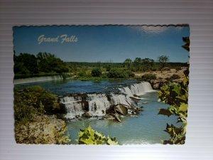 Vintage Postcard Grand Falls Joplin Missouri Shoal Creek 1977 unposted die cut