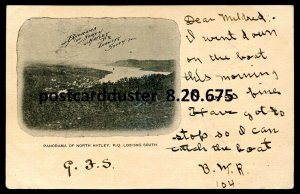 675 - NORTH HATLEY Quebec Postcard 1900s Panoramic View