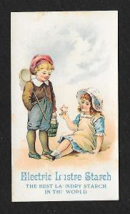 VICTORIAN TRADE CARD Electric Lustre Starch Children