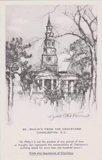 South Carolina Charleston St Philips From The Graveyard