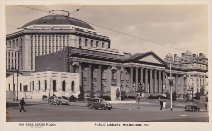 Australia Melbourne The Public Library Real Photo