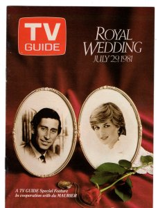 TV Guide, Royal Wedding, Charles and Diana, du Maurier Cigarettes 1981  Souvenir
