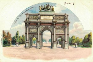 France Paris L'Arc de Triomphe Carrousel Litho 04.05