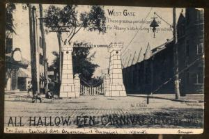 1905 Albany NY Usa Picture Postcard PPC Cover Halloween Carnival Entrance