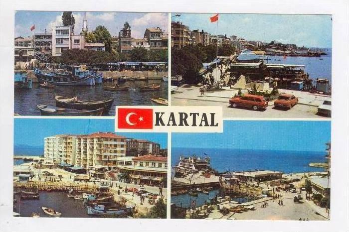 Kartal Istanbul Turkiye Turkey 60s Hippostcard