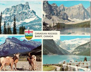 The Canadian Rockies, Banff, Canada, 1975 used Postcard