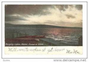 Sunset at Bemis,Rangeley Lakes, Maine, 1906