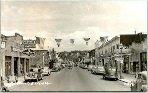 KENT, Washington RPPC Real Photo Postcard Business District Street Scene 1940s