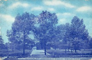 Mena Arkansas birds eye view Janssen Park entrance antique pc BB67