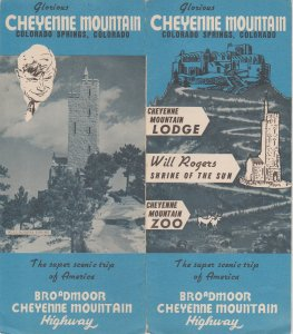 Cheyenne Mountain Colorado Springs CO, Lodge, Zoo, Will Rogers Old Brochure