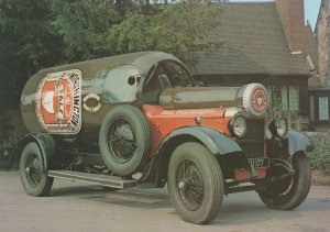Bottle Car Worthington Ale at Burton On Trent Lorry Postcard