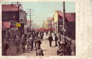 pre-1907 FRONT STREET. NOME, AK R. B. Zehner, Jeweler 1906 pedestrians & horses